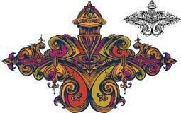 Wektorowy barokowy ornament w wiktoriański stylu 1 ilustracja wektor