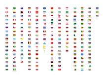 wektorowy best wszystkie kontynentu świat zaznacza kolekcję z krajów imionami ilustracja wektor