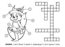 Wektorowy bezbarwny crossword Wiewiórcza skokowa arkana royalty ilustracja