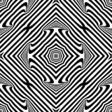 Wektorowy bezszwowy abstrakta wzór czarny i biały tło abstrakcjonistyczna tapeta fotografia stock