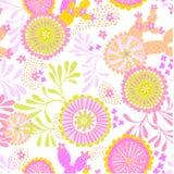 Wektorowy bezszwowy abstrakta wzór dla patchworku, podwodny temat Obrazy Royalty Free