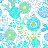 Wektorowy bezszwowy abstrakta wzór dla patchworku, podwodny temat Zdjęcie Stock