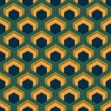 Wektorowy bezszwowy abstrakta wzór sześciokąty w mieszkanie stylu Obrazy Stock