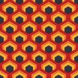 Wektorowy bezszwowy abstrakta wzór sześciokąty w mieszkanie stylu Obrazy Royalty Free