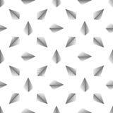 Wektorowy bezszwowy abstrakta wzór z kropkowanym ostrosłupem na białym tle Obrazy Stock