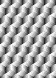 Wektorowy bezszwowy abstrakta wzór z kropkowanymi sześcianami na białym tle Zdjęcia Royalty Free