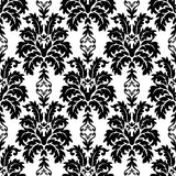 WEKTOROWY BEZSZWOWY adamaszka wzór Bogaty ornament, stary Damascus styl Obrazy Royalty Free
