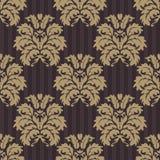 WEKTOROWY BEZSZWOWY adamaszka wzór Bogaty ornament, stary Damascus styl Zdjęcie Stock