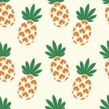 Wektorowy bezszwowy ananasa wzór Obraz Royalty Free