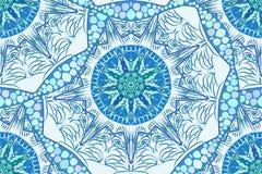 Wektorowy bezszwowy błękitny abstrakta wzoru kędzior Zdjęcie Royalty Free