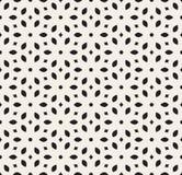 Wektorowy Bezszwowy Biały Geometryczny Prosty Kwiecisty płatka wzór royalty ilustracja