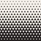 Wektorowy Bezszwowy biel Czernić przemiana trójboka Halftone gradientu wzór Fotografia Royalty Free