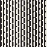 Wektorowy bezszwowy czarny i biały halftone wykłada siatka wzór Abstrakcjonistyczny geometryczny tło projekt Obraz Royalty Free