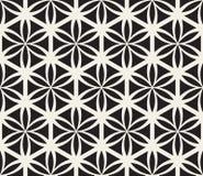 Wektorowy Bezszwowy Czarny I Biały kwiat życie geometrii okręgu Święty wzór royalty ilustracja