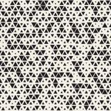 Wektorowy Bezszwowy Czarny I Biały Przypadkowy Wielkościowy trójbok siatki wzór ilustracja wektor