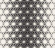 Wektorowy Bezszwowy Czarny I Biały trójbok Wykłada siatka wzór Obraz Royalty Free