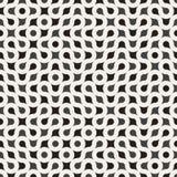 Wektorowy Bezszwowy Czarny I Biały Zaokrąglony okręgu labiryntu linii Truchet wzór ilustracja wektor