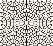 Wektorowy Bezszwowy Czarny I Biały Geometryczny Koronkowy siatka wzór Zdjęcie Stock