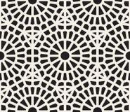 Wektorowy Bezszwowy Czarny I Biały Geometryczny Koronkowy siatka wzór Zdjęcia Royalty Free