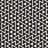 Wektorowy Bezszwowy Czarny I Biały Nieregularny trójbok siatki wzór Zdjęcia Stock