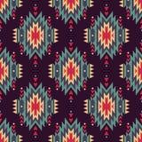 Wektorowy bezszwowy dekoracyjny etniczny wzór Amerykańsko-indiański motywy Obraz Stock