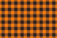 Wektorowy Bezszwowy deseniowy horyzontalny Komórki tła koloru mody pomarańczowy płótno w klatce Abstrakcjonistyczny w kratkę tło  fotografia royalty free