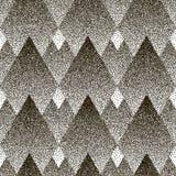 Wektorowy bezszwowy geometryczny kropkowany wzór Halfton Obrazy Royalty Free