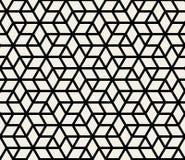 Wektorowy Bezszwowy Geometryczny Prosty Rhombus trójboka gwiazd kształta wzór Fotografia Royalty Free