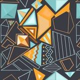 Wektorowy bezszwowy geometryczny wzór Obrazy Royalty Free