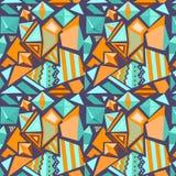 Wektorowy bezszwowy geometryczny wzór Obraz Stock