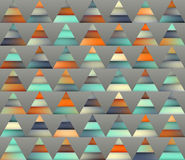 Wektorowy Bezszwowy Gradientowy siatka kolor Paskuje trójbok siatkę w cieniach cyraneczka i pomarańcze Zdjęcia Stock