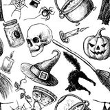Wektorowy bezszwowy Halloween wzór Obrazy Stock