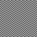 Wektorowy bezszwowy herringbone wzór geometryczna tekstura Czarno biały tło Monochromatyczny projekt royalty ilustracja