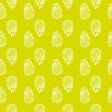 Wektorowy bezszwowy jaskrawy wzór z ananasami Rysujący ręką e Zdjęcie Royalty Free