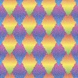 Wektorowy bezszwowy kolorowy abstrakcjonistyczny geometryczny kropkowany wzór Zdjęcie Stock