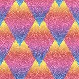 Wektorowy bezszwowy kolorowy abstrakcjonistyczny geometryczny kropkowany wzór Fotografia Stock