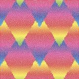 Wektorowy bezszwowy kolorowy abstrakcjonistyczny geometryczny kropkowany wzór Obrazy Stock