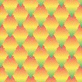 Wektorowy bezszwowy kolorowy abstrakcjonistyczny geometryczny kropkowany wzór Obrazy Royalty Free