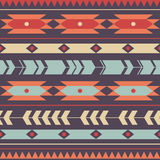 Wektorowy bezszwowy kolorowy dekoracyjny etniczny wzór Fotografia Stock