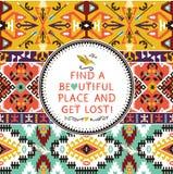 Wektorowy bezszwowy kolorowy plemienny wzór Fotografia Royalty Free
