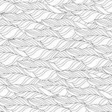 Wektorowy Bezszwowy Konturowy Kwiecisty wzór ilustracja wektor