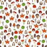 Wektorowy bezszwowy lasu wzór Zdjęcie Royalty Free