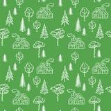 Wektorowy bezszwowy lasu wzór fotografia stock