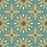 Wektorowy bezszwowy marokański wzór Obrazy Royalty Free