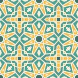 Wektorowy bezszwowy marokański wzór Zdjęcia Stock