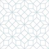 Wektorowy bezszwowy miękki biały geometryczny trellis maswerku wzór royalty ilustracja