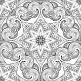 Wektorowy Bezszwowy Monochromatyczny Ozdobny wzór ilustracji