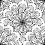 Wektorowy Bezszwowy Monochromatyczny Ozdobny wzór Fotografia Royalty Free