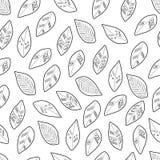 Wektorowy bezszwowy monochromu wzór Zdjęcia Stock