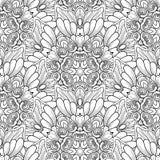 Wektorowy bezszwowy monochromu wz?r Printable kolorystyk strony ilustracja wektor